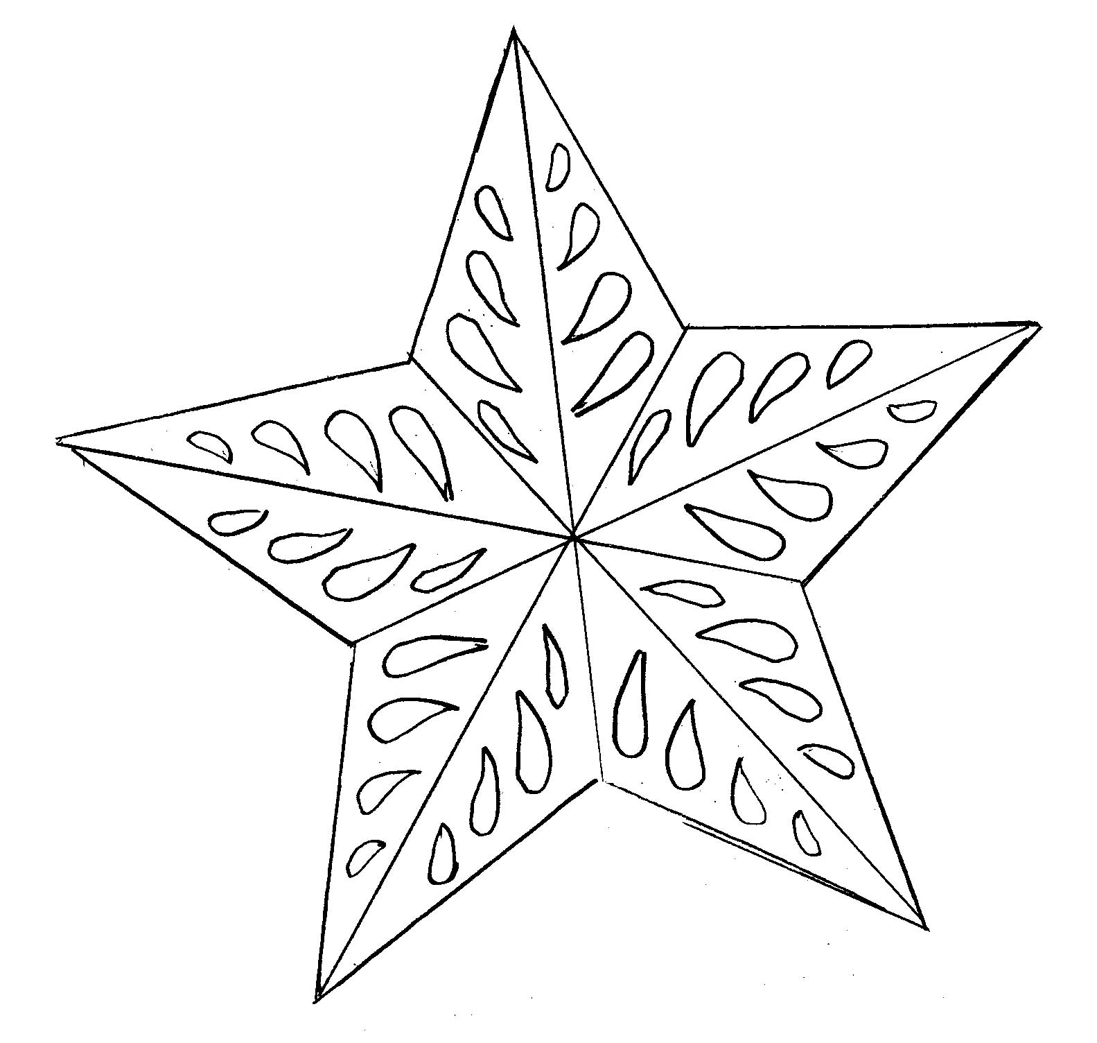Eloquent image inside christmas star printable
